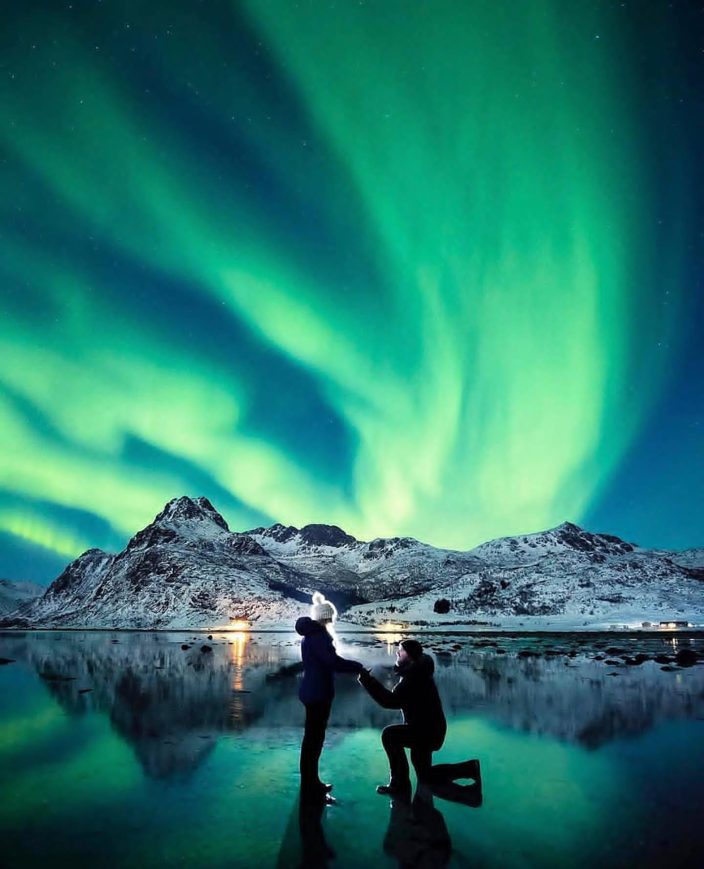 northern lights marriage proposal idea