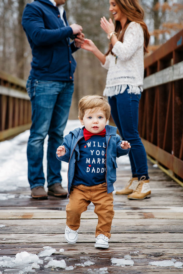 marriage proposal idea with children