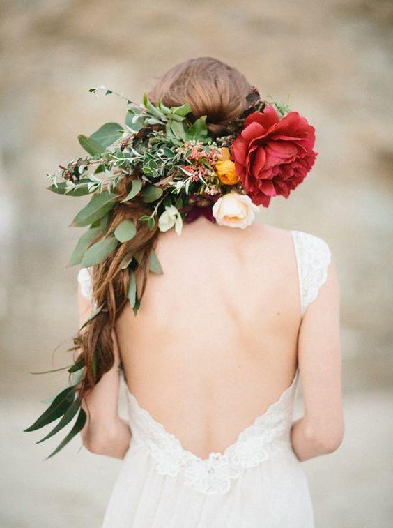 Flower Crowns wedding hair