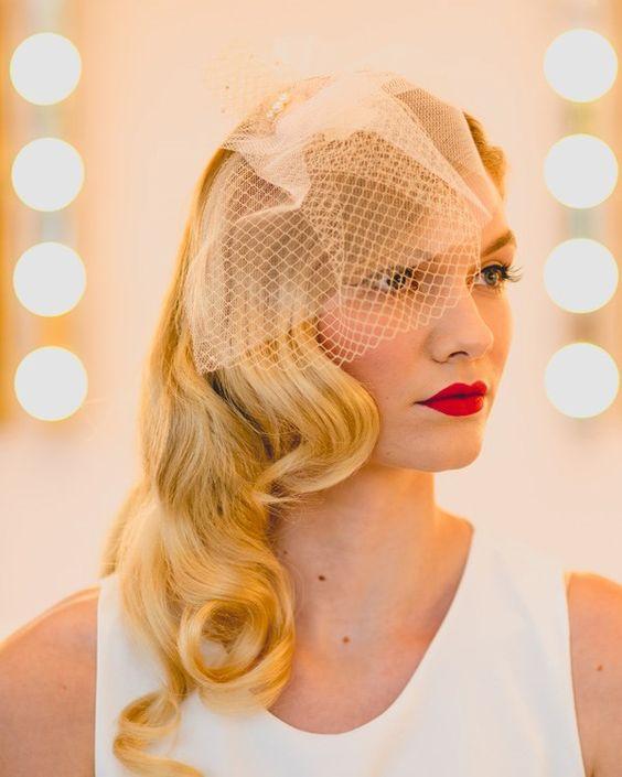 Glamour waves wedding hair