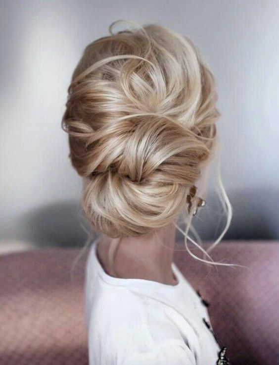 knotted updo wedding hair