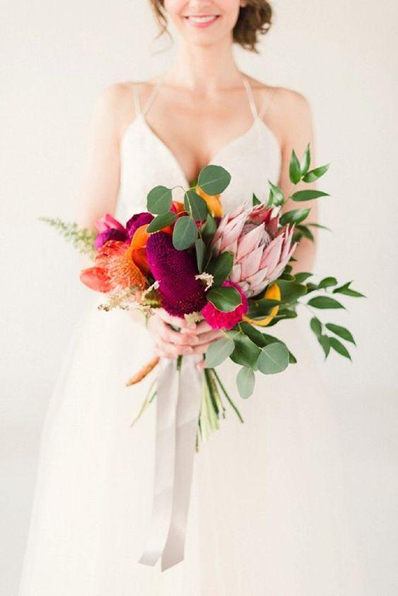 Сolorful wedding bouquet ideas