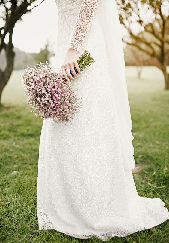 pink bridal mono bouquet