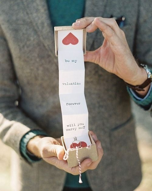 Valentines day proposal idea