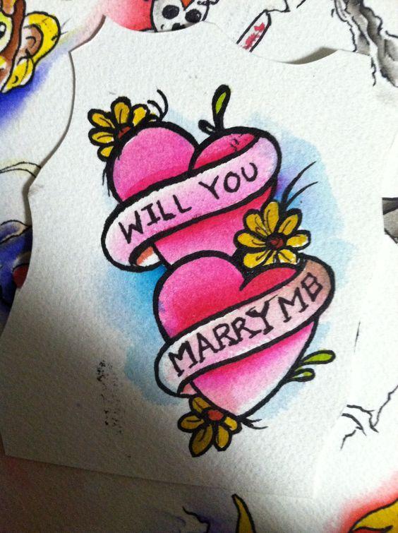 tattoo marry me proposal idea