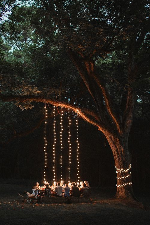 marriage proposal idea with lights decorations