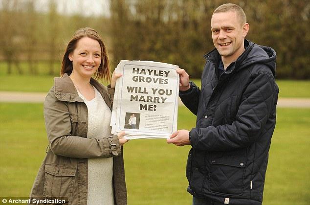 newspaper marriage proposal idea
