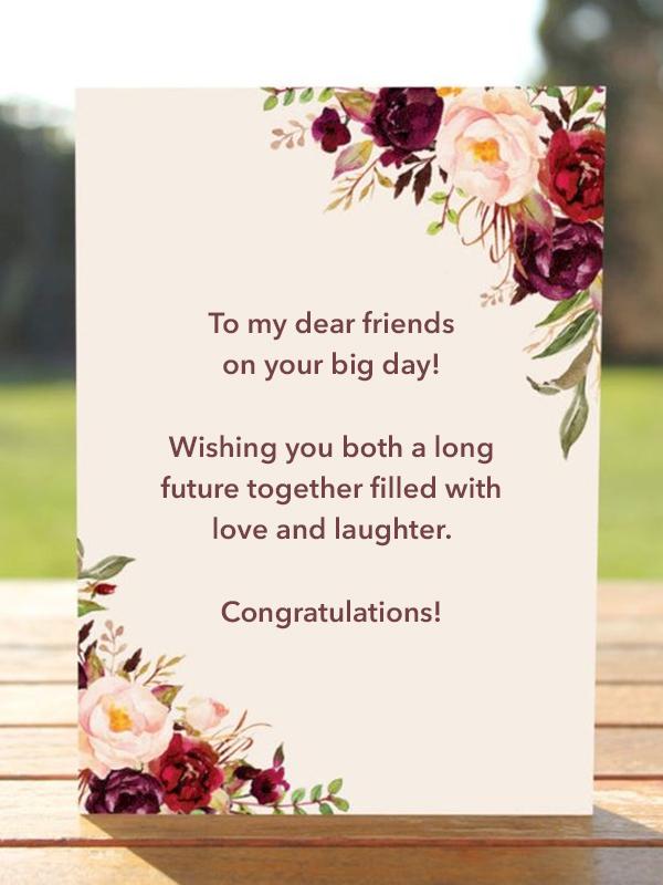 Messages muslim wedding wishes Wedding Congratulations: